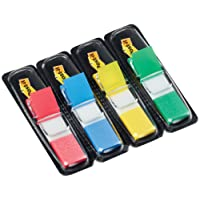Post-it Index Flags, Small, 4 Colours, Pack of 140 Flags (12mm x 43mm)