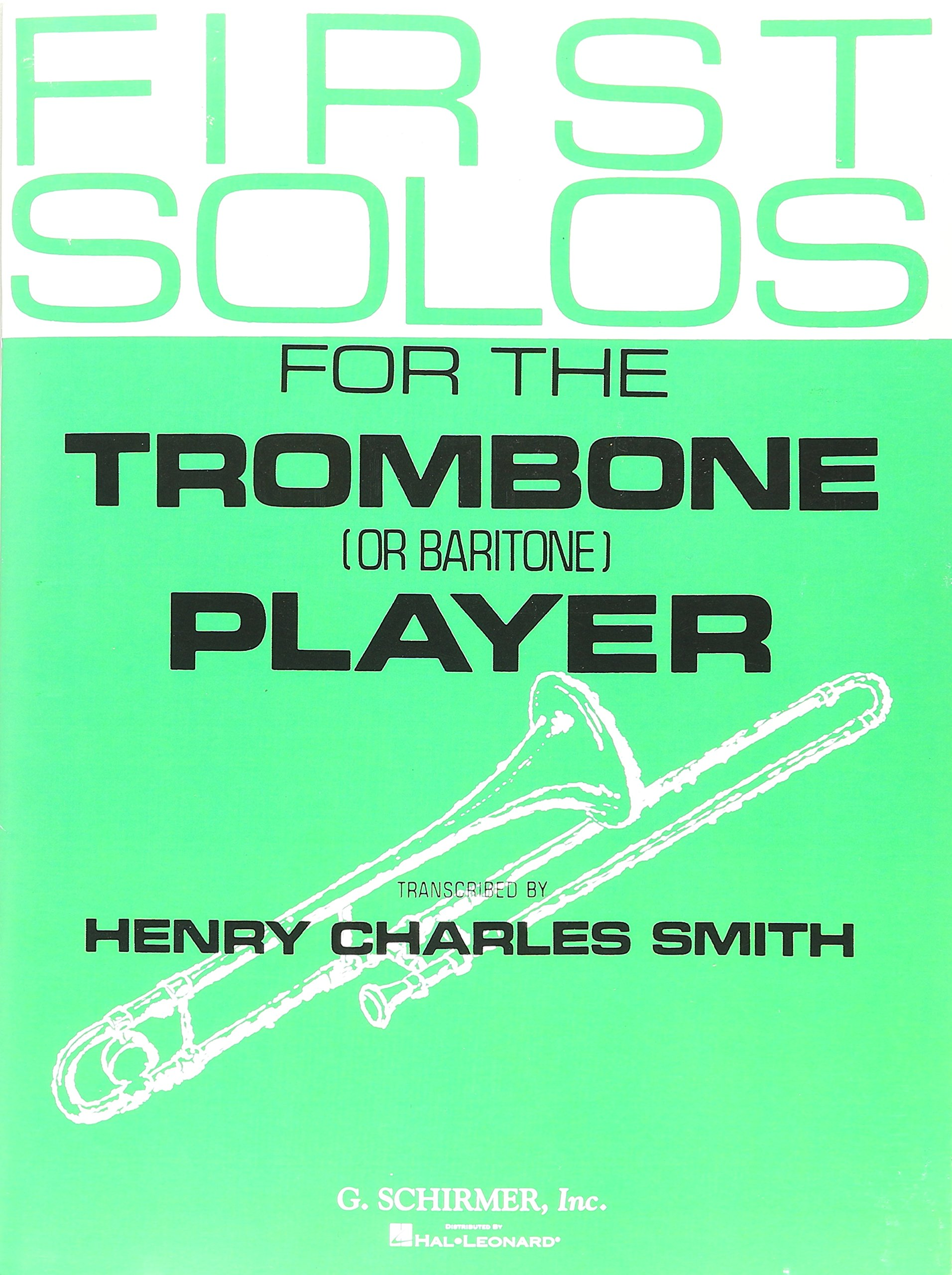 Amazon com: First Solos for the Trombone or Baritone Player