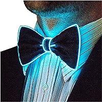 Halloween Light Up Neck LED Tie for Men Novelty Necktie for Rave Party Burning Halloween Glowing tie Glowing Novelty Creative tie tie