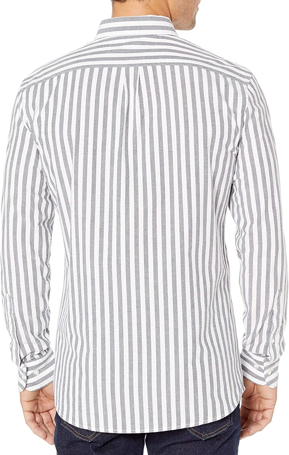 Brand Goodthreads Mens Standard-Fit Long-Sleeve Fashion Stripe Oxford Shirt
