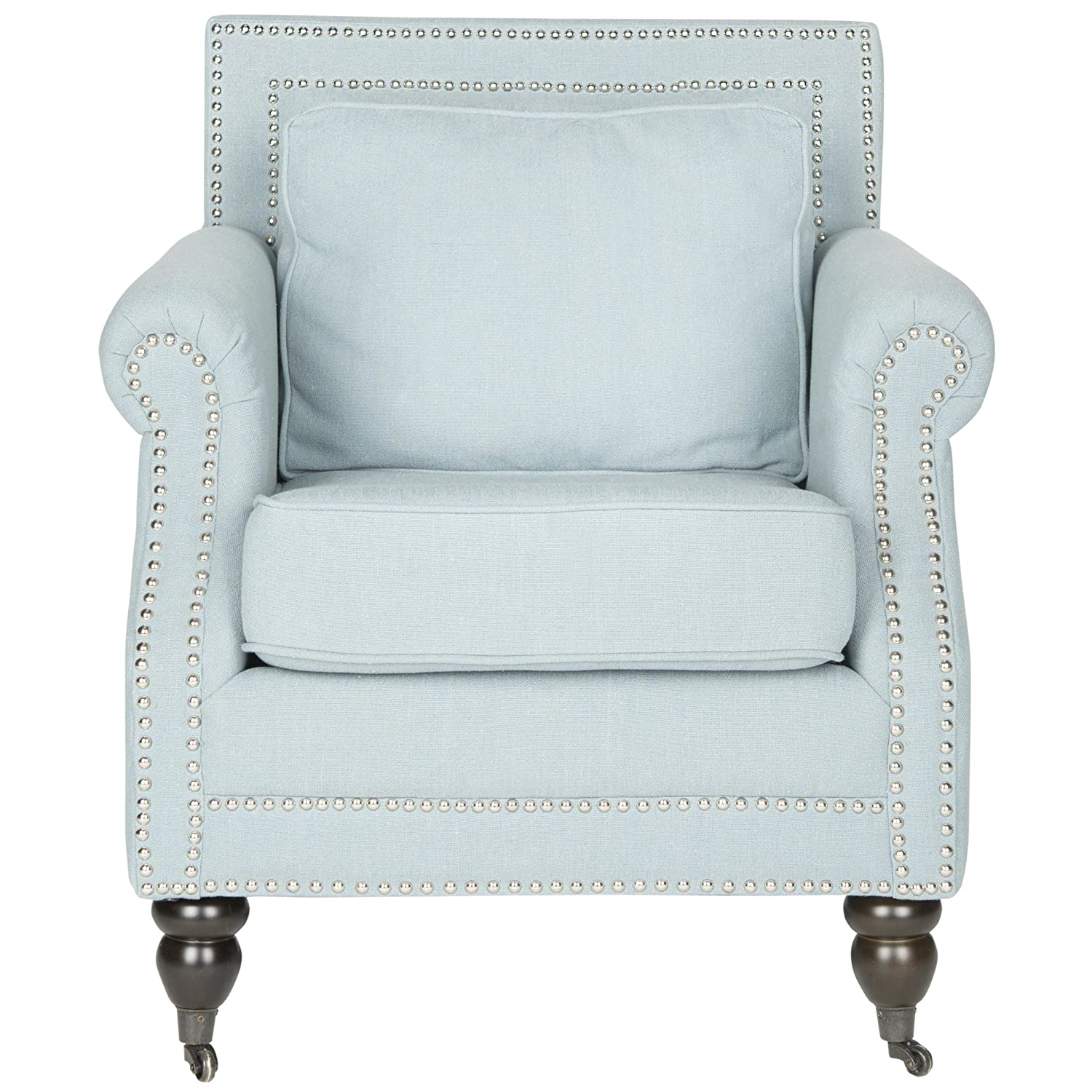 Amazon.com: Safavieh Mercer Collection Karsen Club Chair, Sky Blue: Kitchen  U0026 Dining