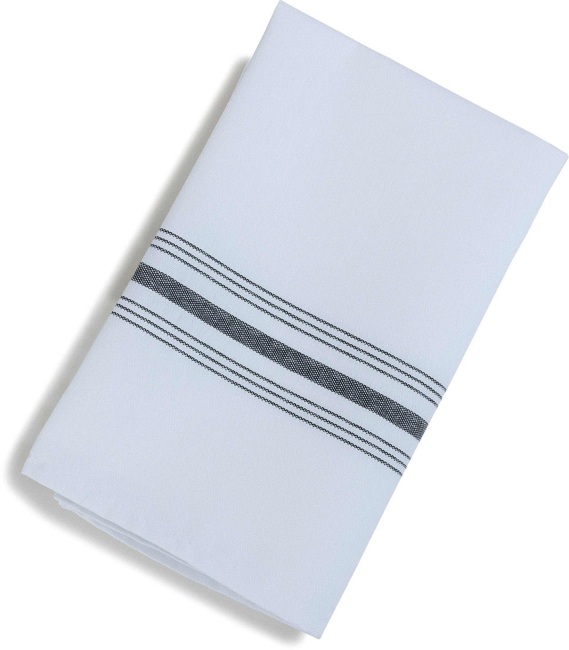 Carlisle 53771822NH014 Restaurant Quality Cloth Dinner/Bistro Napkins, 18'' x 22'', Black Stripe (Pack of 12)