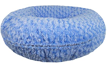 b978dea03715 Bessie and Barnie Signature Blue Sky Extra Plush Faux Fur Bagel Pet   Dog  Bed (