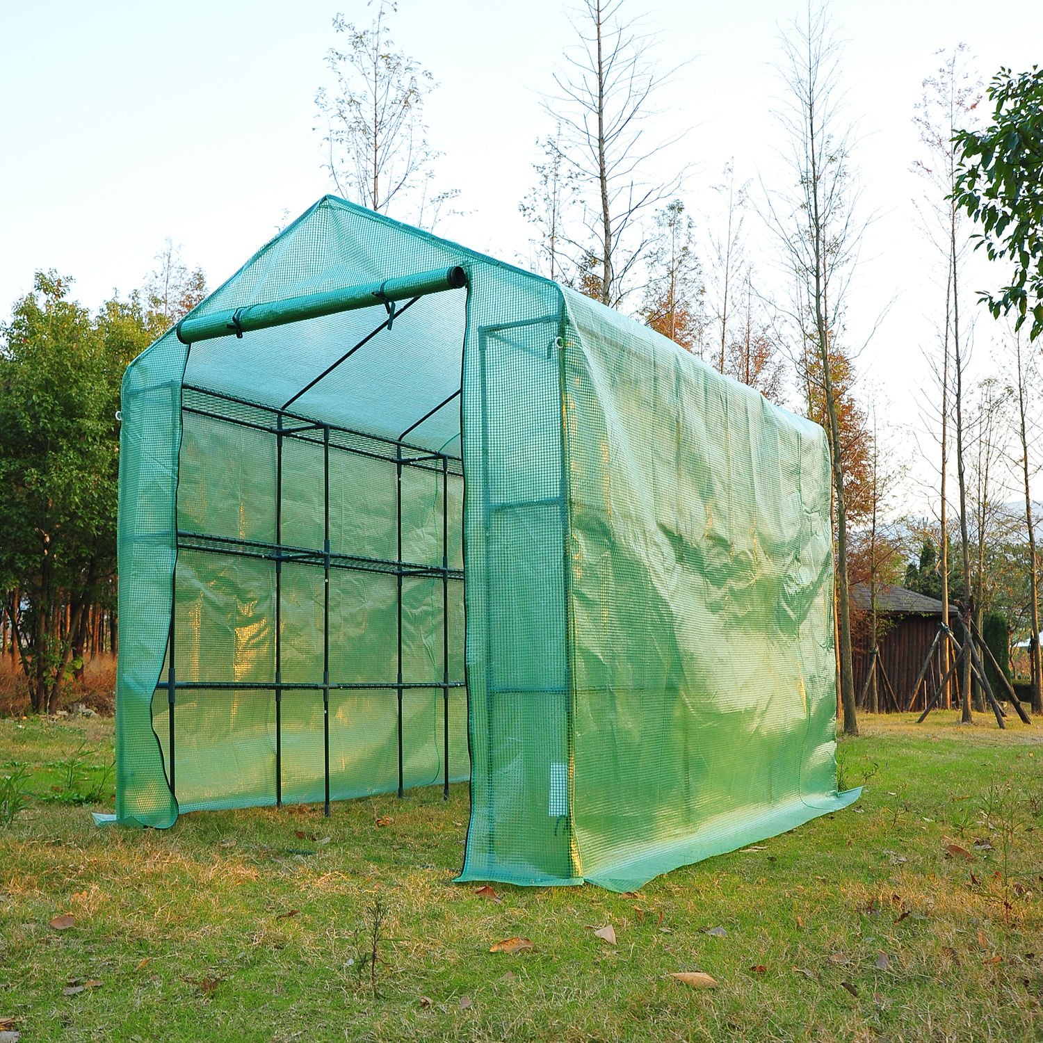Outsunny 8' x 6' x 7' Outdoor Portable Walk-in Greenhouse by Outsunny (Image #2)
