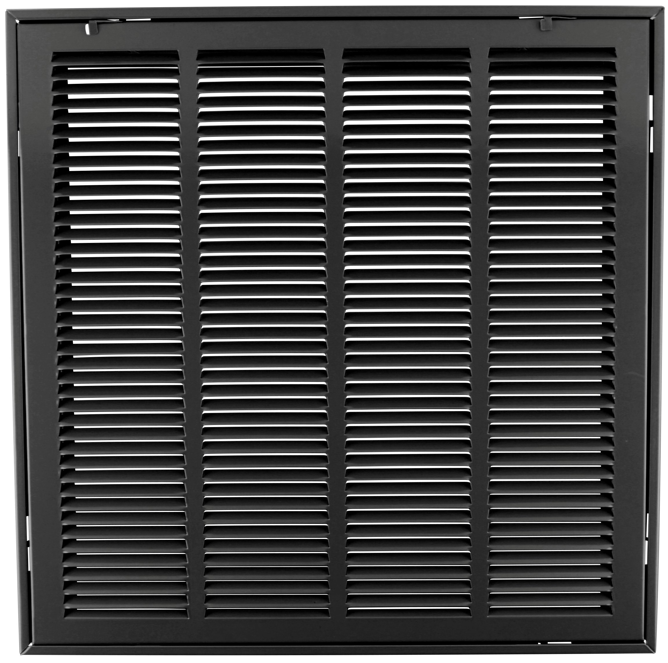 20'' X 20 Steel Return Air Filter Grille for 1'' Filter - Removable Face/Door - HVAC DUCT COVER - Flat Stamped Face - Black [Outer Dimensions: 22.5''w X 22.5''h] by HVAC Premium (Image #1)