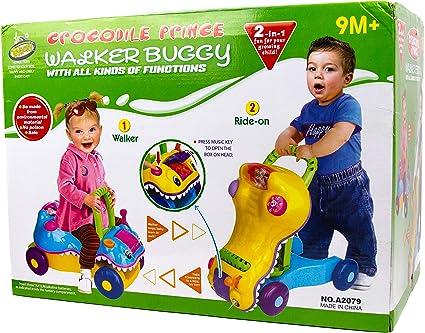 Amazon.com: Juguete 2 en 1 para caminar de bebé – Walk n ...