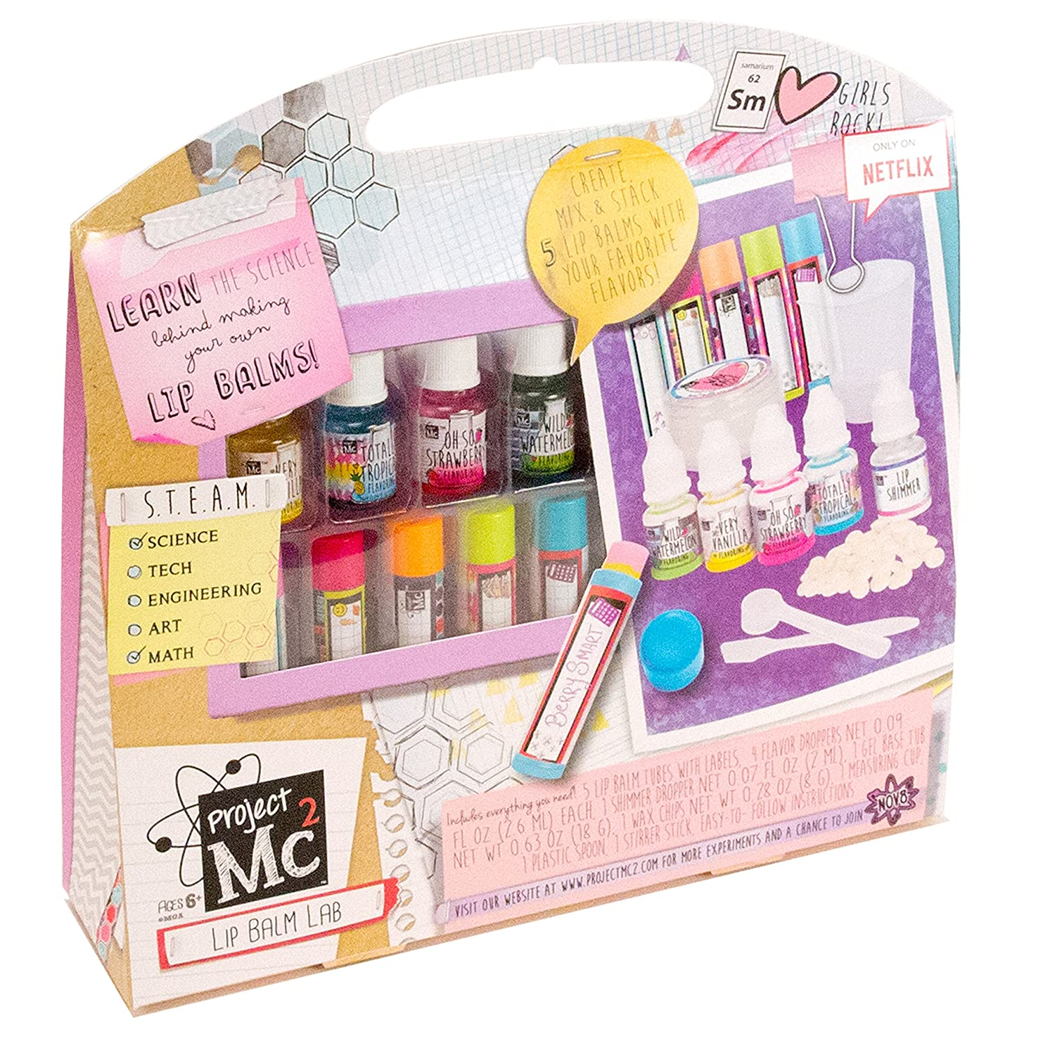 Amazon Project Mc2 Create Your Own Lip Balm Lab Kit Toys & Games