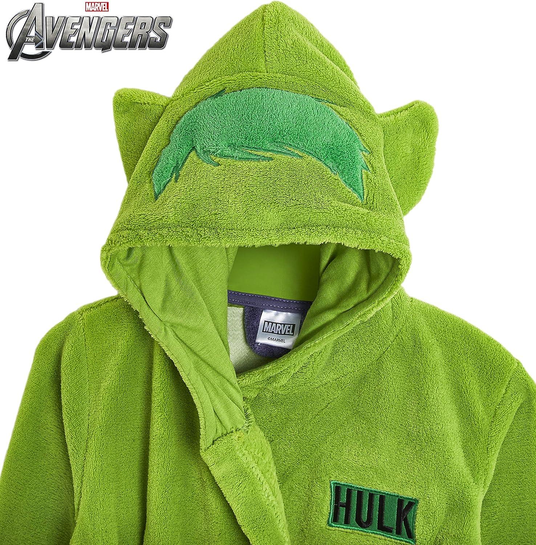 Kuschelweichen Geschenkideen f/ür Fans Comics Super Weich Morgenmantel Kinder Hulk Captain America Marvel Avengers Morgenmantel F/ür Jungen mit Kapuze