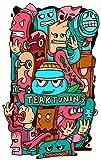 Teak Tuning Teak Tiki Die-Cut Sticker, Pack of 1