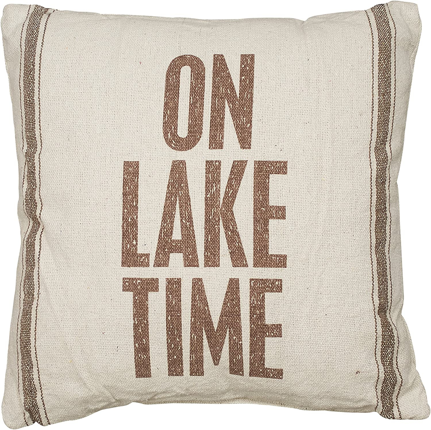 Primitives by Kathy Hand-Lettered Throw Pillow Lake Life