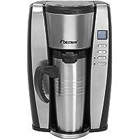 Bestron ACUP650 Kaffeeautomat Mit Thermoskanne, 650 W, schwarz / edelstahl