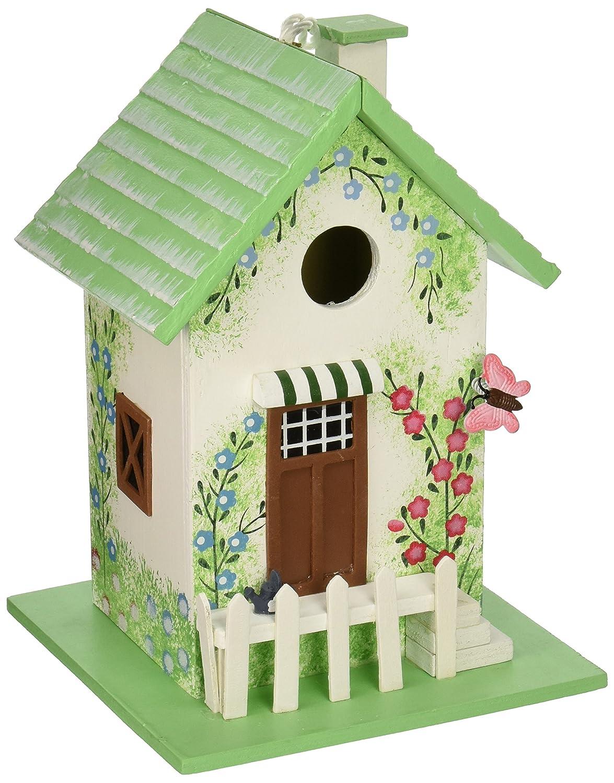 Home Bazaar hb-6002s Butterfly Cottage Birdhouse – verde