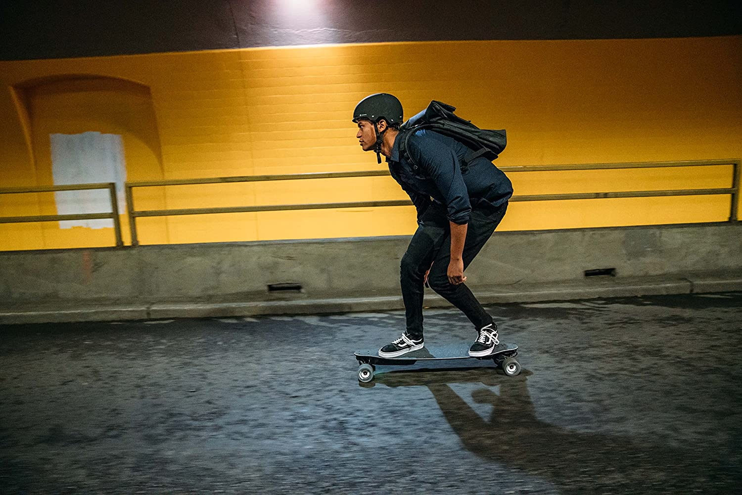 man riding boosted stealth
