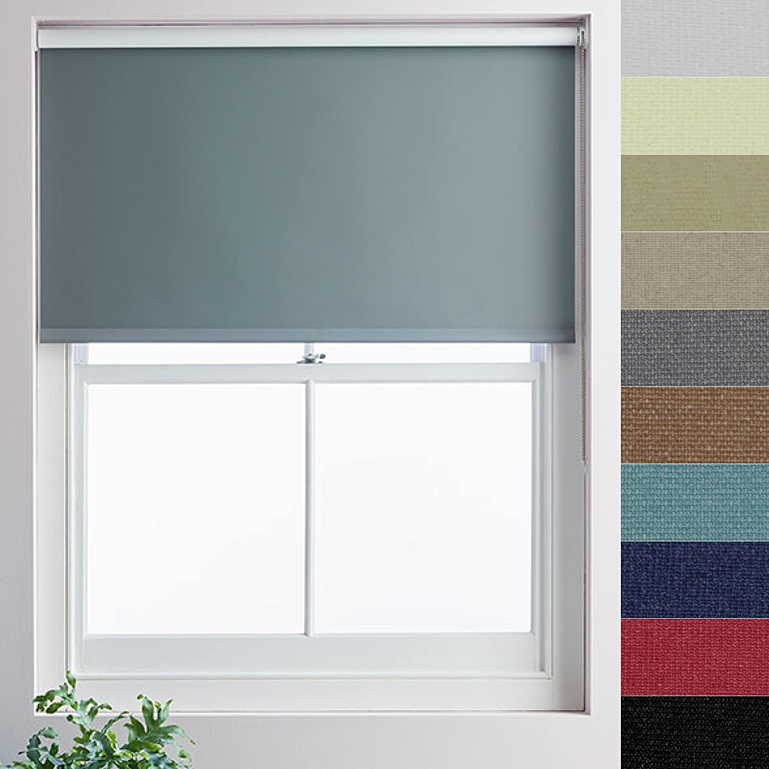 Made to Measure Roller Blind, 400mmx1000mm, White Orchid Blackout ...