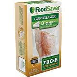 "FoodSaver GameSaver 8"" x 20' Vacuum Seal Long Roll with BPA-Free Multilayer Construction, 2 Pack"