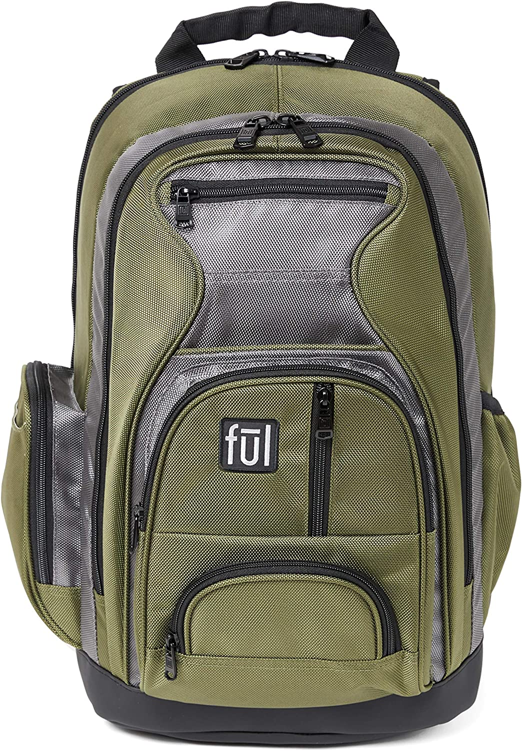 Ful Free Fallin' Padded Laptop Backpack, Fits Up to 17-Inch Laptops, Green, Unisex