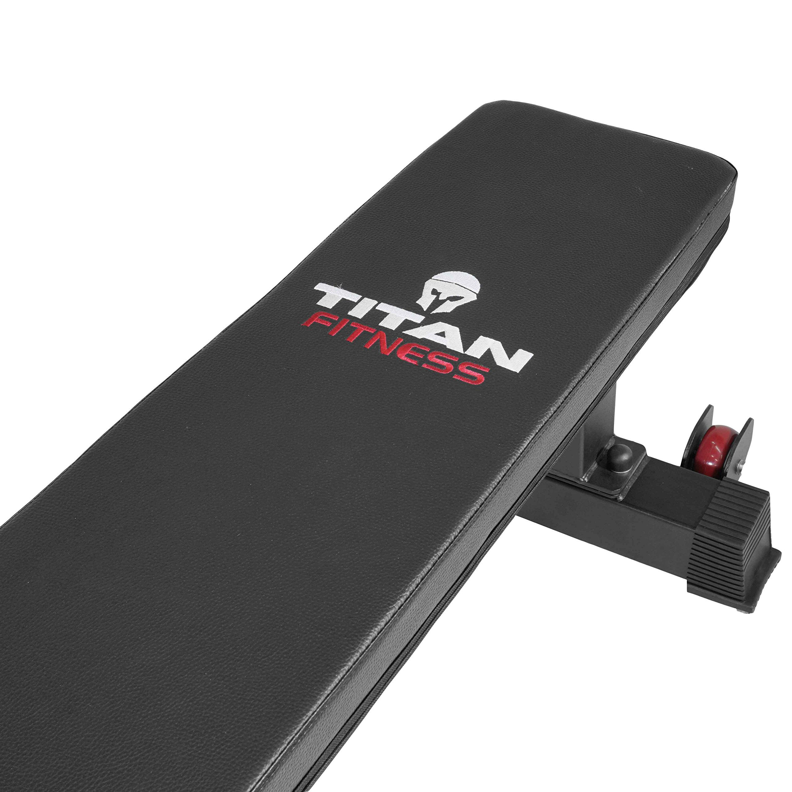 Titan Fitness Flat Weight Bench 1,000 lb Rated Capacity w/ Handle & Wheels by Titan Fitness (Image #7)