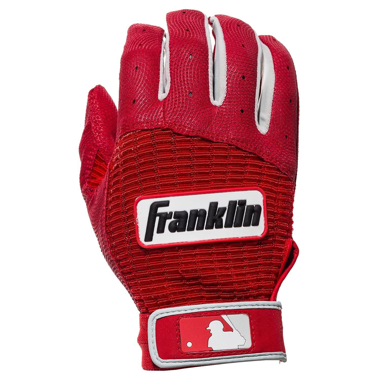 Franklin Sports MLBプロクラシック バッティンググローブ ペア B075NXM268 Small|レッド/レッド レッド/レッド Small