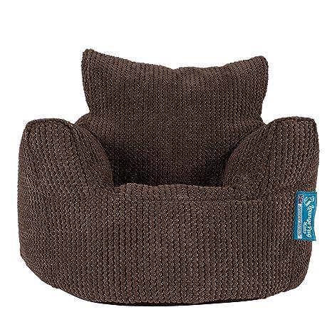Lounge Pug®, Puff Sillón para niños, Pompón - Chocolate ...