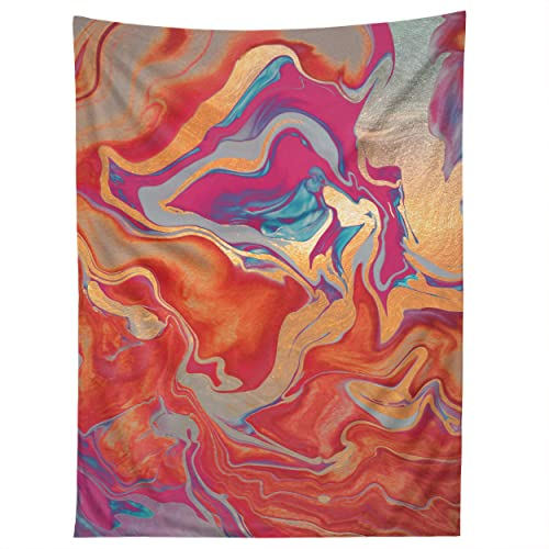 Society6 Monika Strigel Drama Queen Gold and Fire Tapestry, 60 x80 , Multi