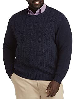 Oak Hill by DXL Big and Tall Marled 1//4-Zip Sweater Brown Marl