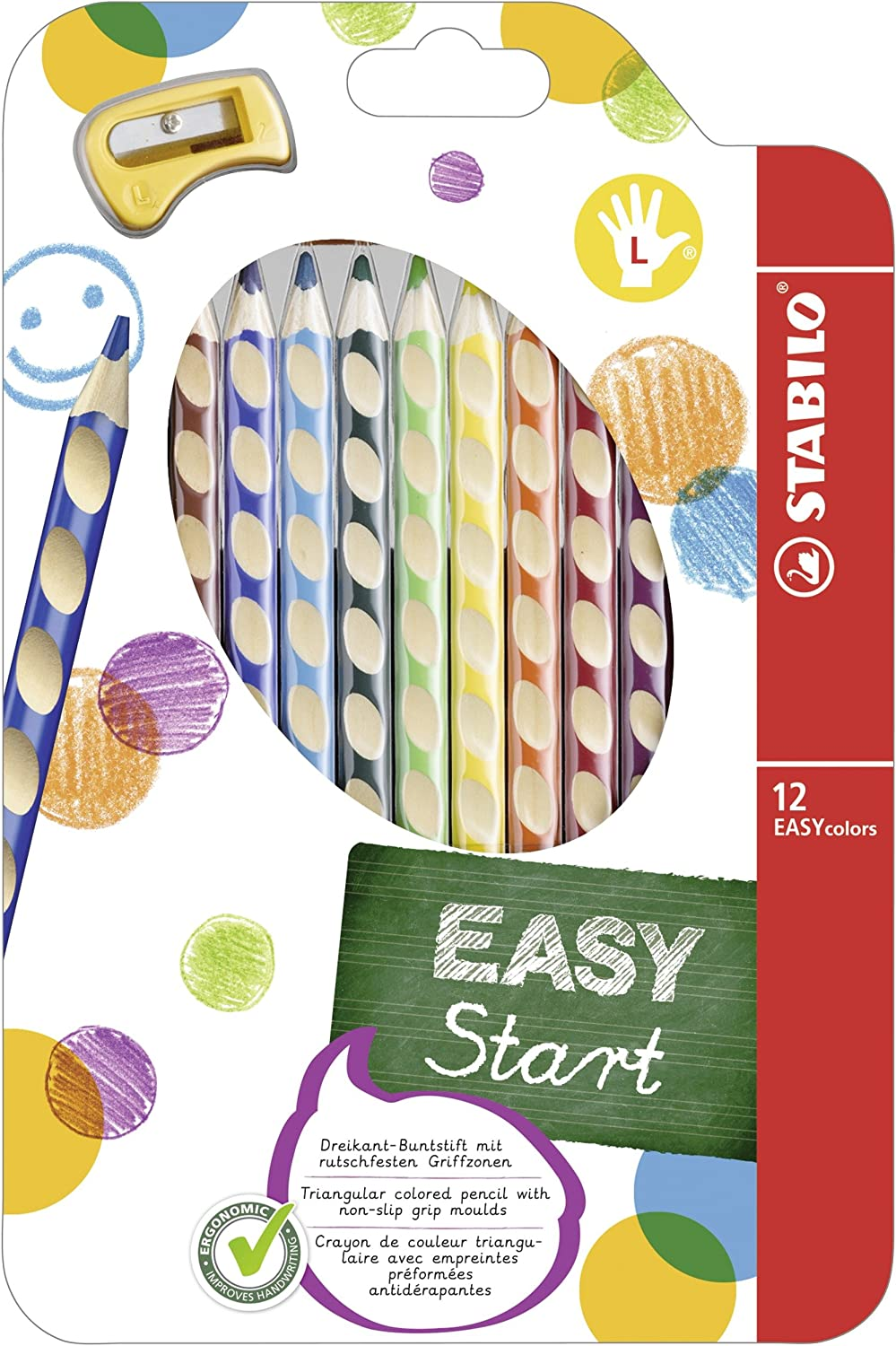 STABILO Easy Color 6C Left Hand Set for 331-6 by Stabilo