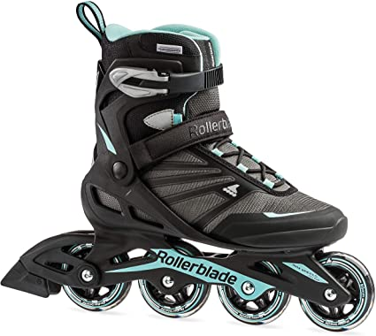 Amazon.com : Rollerblade Zetrablade Women's Adult Fitness Inline Skate, Black and Light Blue, Performance Inline Skates : Sports & Outdoors