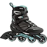 Rollerblade Zetrablade Women's Adult Fitness Inline Skate, Black and Light Blue, Performance Inline Skates