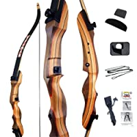 "Old World Yeoman Takedown Recurve Bow Traditional Archery Set | 54"" or 62"" length 