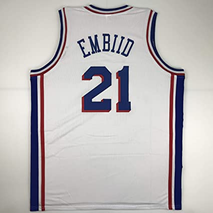 Unsigned Joel Embiid Philadelphia White Custom Stitched Basketball Jersey  Size Men s XL New No Brands  9aab9dc6d