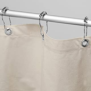 "product image for Bean Products Organic Cotton Shower Curtain (Natural), [70"" x 74""] 
