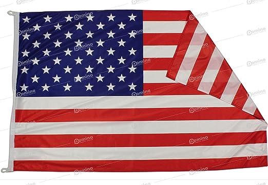 Bandera USA 150x100 cm en tela náutico resistente al viento 115g/m², bandera Estadounidense 150x100 lavable, bandera de USA 150x100 alta calidad con cordón, doble costura perimetral y cinta de refuerzo: Amazon.es: Jardín