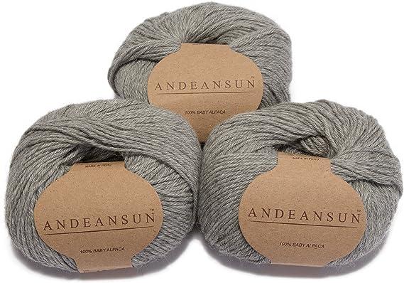 Alpaca Wool Skeins 100/% Baby Alpaca Yarn Lot of 5 Mulinex Color 1200