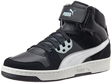 UK Shoes Store - Puma Rebound Street Sd Sneakers High man Black (Black / White / Quarry)