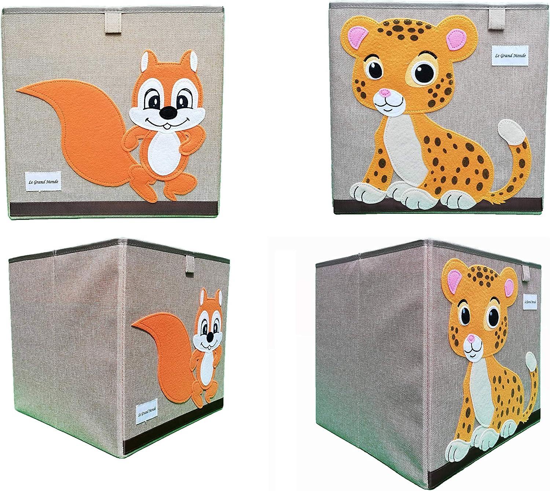 Bo/îte De Rangement Forte Et Pliable Pour Les Jouets Animal Enfants 33X33 cm 27 VARIATIONS