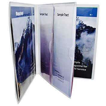 vinyl magazine and tract organizer by jw field service supplies great for arranging publications and - Field Service Organizer