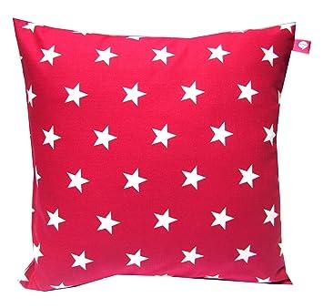 Kissenhülle 40 X 40 Cm Sterne Rot Weiß Kissen Kissenbezug Für