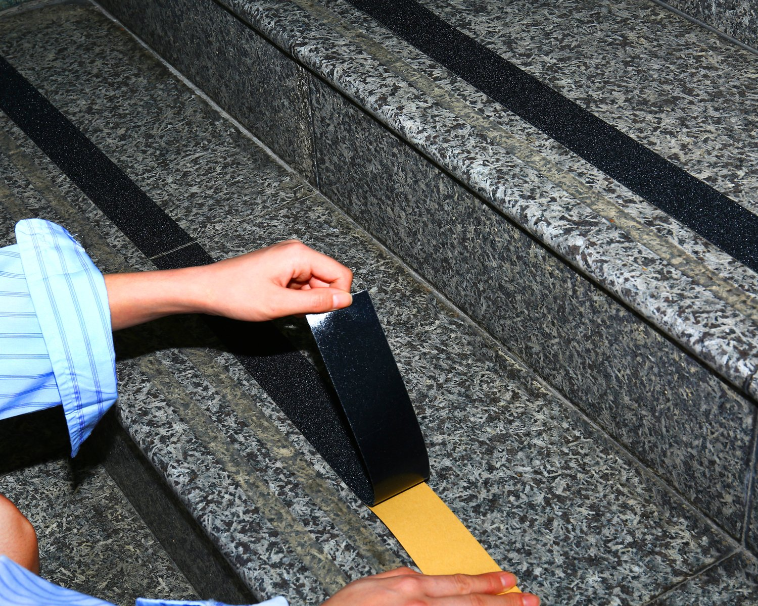 Anti Slip Tape - 2 Inch x 30 Foot High Traction Grip Tape 60 Grit for Stairs Indoor Outdoor (Black) by Cheerybond (Image #4)
