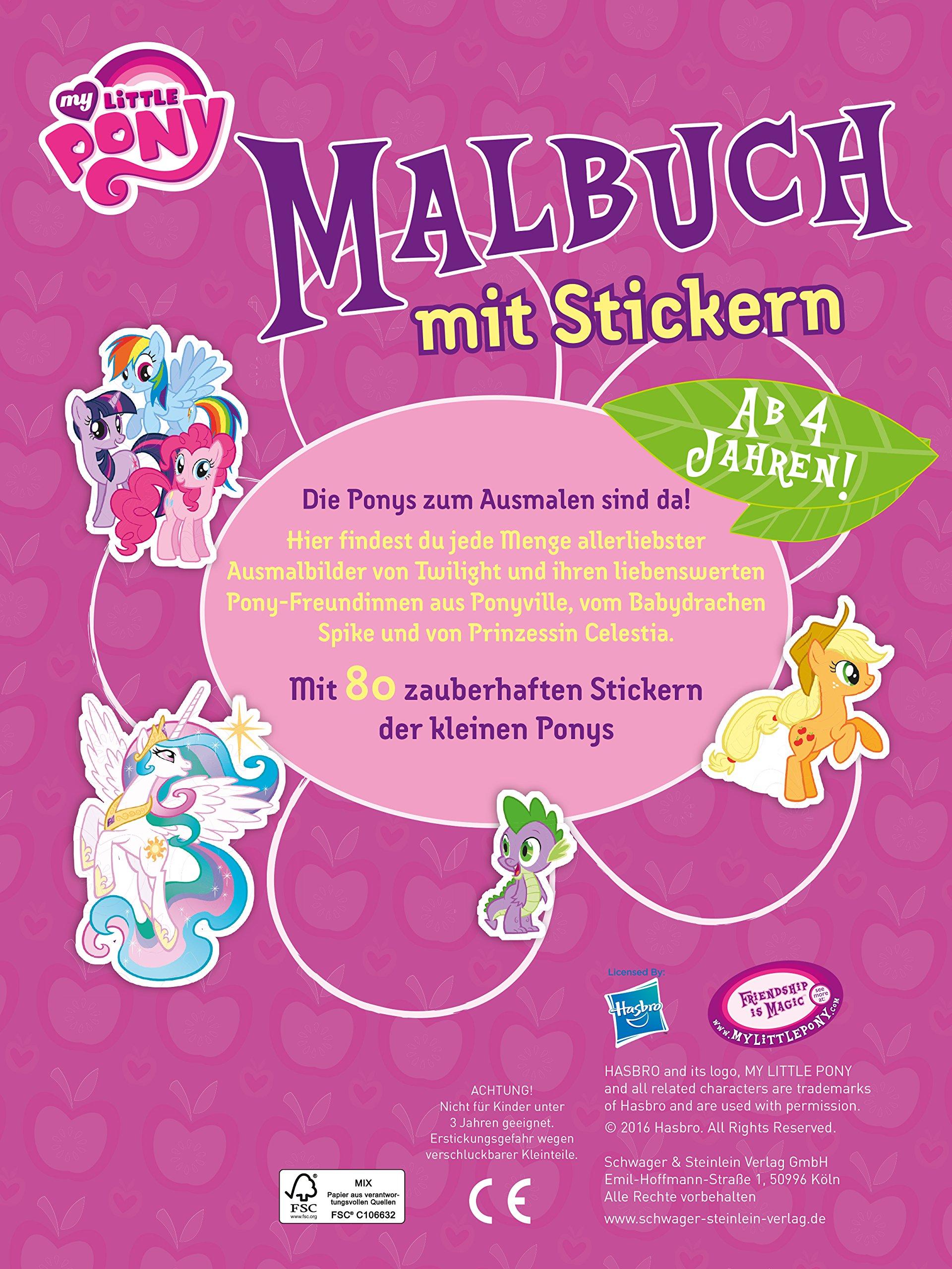 Malbuch My Little Pony Mit 80 Stickern Amazon Co Uk 9783849916503