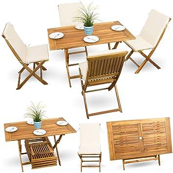 Juego de 9 piezas, balcón terraza balcón Set de mesa Muebles ...