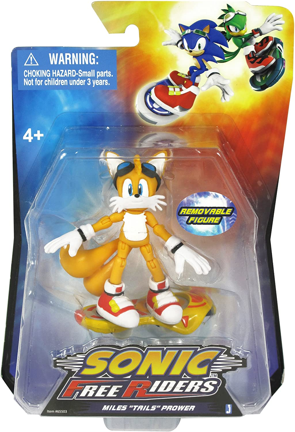 Amazon Com Sonic Free Riders Miles Tails Prower Action Figure Toys Games