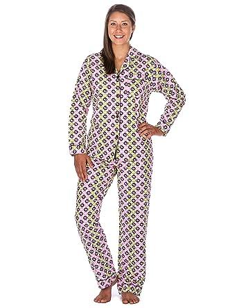 Noble Mount Womens Premium 100% Cotton Flannel Pajama Sleepwear ...