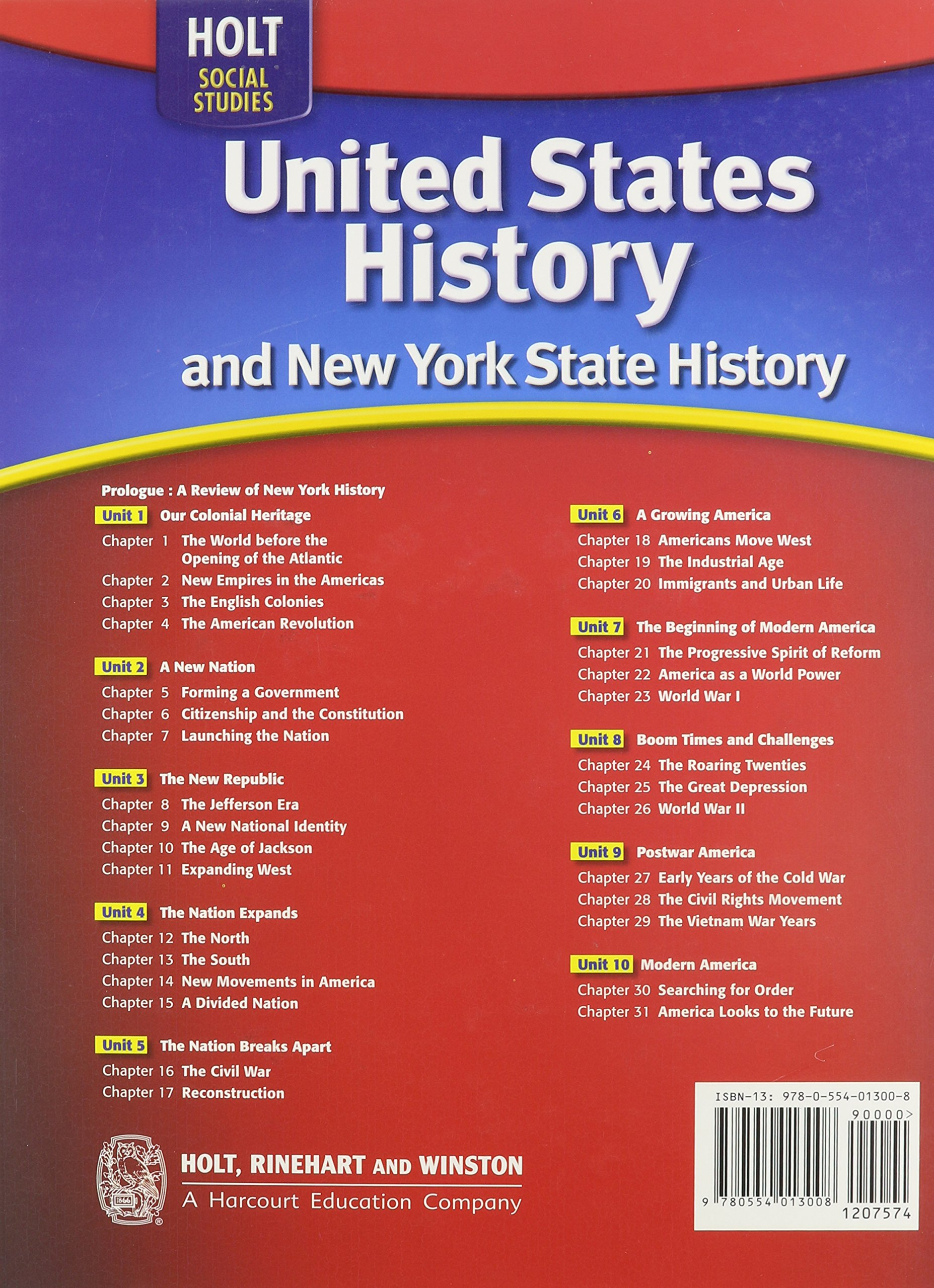 Amazon holt mcdougal united states history 2009 new york amazon holt mcdougal united states history 2009 new york student edition 2009 9780554013008 william deverell and deborah gray white books fandeluxe Images