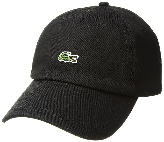 4275e5043 Lacoste Mens Men's Embroidered Crocodile Cotton Cap Cap