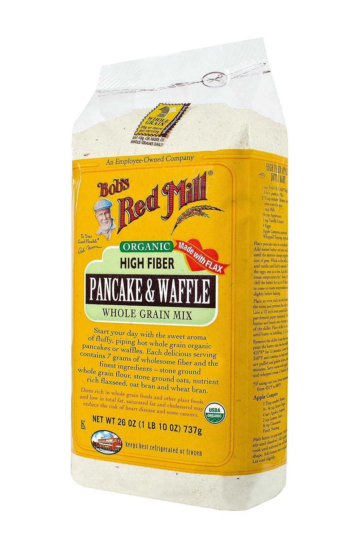 Amazoncom Bobs Red Mill Pancake Waffle Mix Hi Fiber Whole
