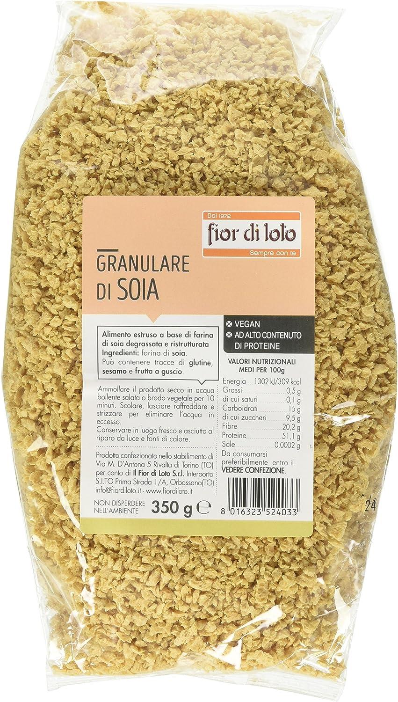 Fior di Loto Granulare di Soia - 3 pezzi da 350 g [1050 g]