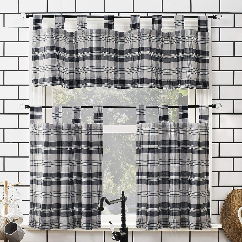 Tab top kitchen curtain