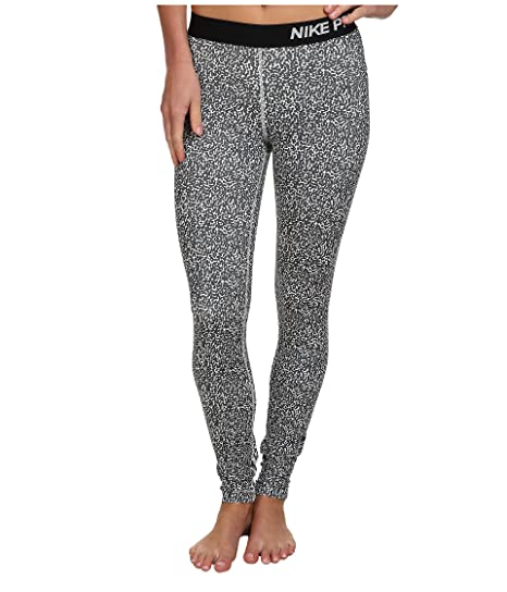 4736453e002 NIKE PRO womens 744839 Athletic DRI-FIT Running Leggings black white (XS)