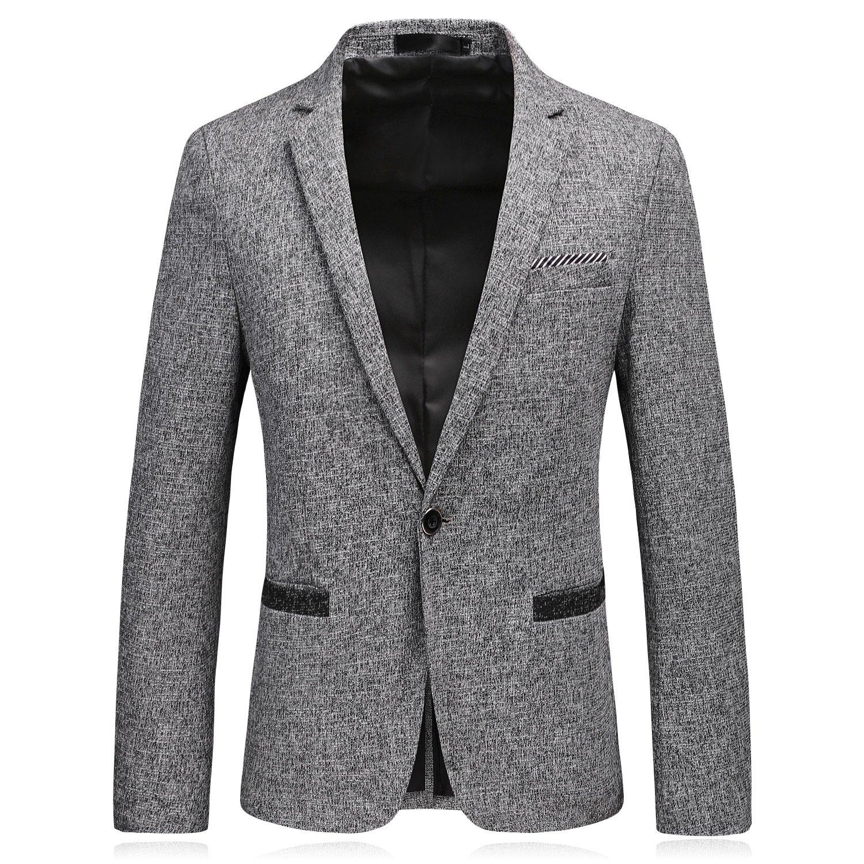 Männer im Anzug und EIN echter Mann und männer zwanglos Anzug Button Anzug,Grau,XXL