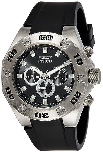 Invicta 21563 Specialty Reloj para Hombre acero inoxidable Cuarzo Esfera negro: Amazon.es: Relojes